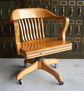 vintage wooden office chair