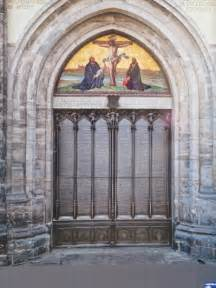 The Wittenburg Door by The Of H Ernest Chen Bauhaus And Lutherstadt Wittenberg