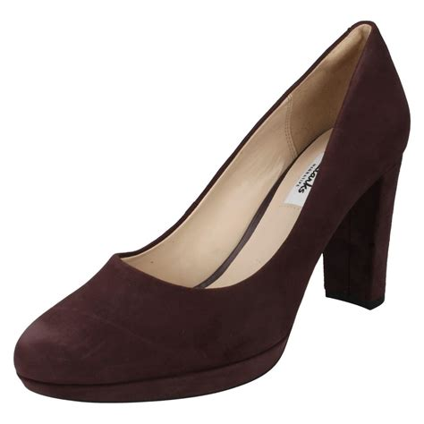 Clars High clarks high heel smart slip on shoes the style kendra ebay
