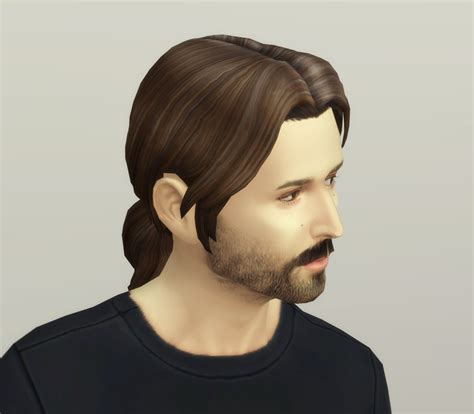 sims 4 male ponytail my sims 4 blog derek s ponytail hair for males and