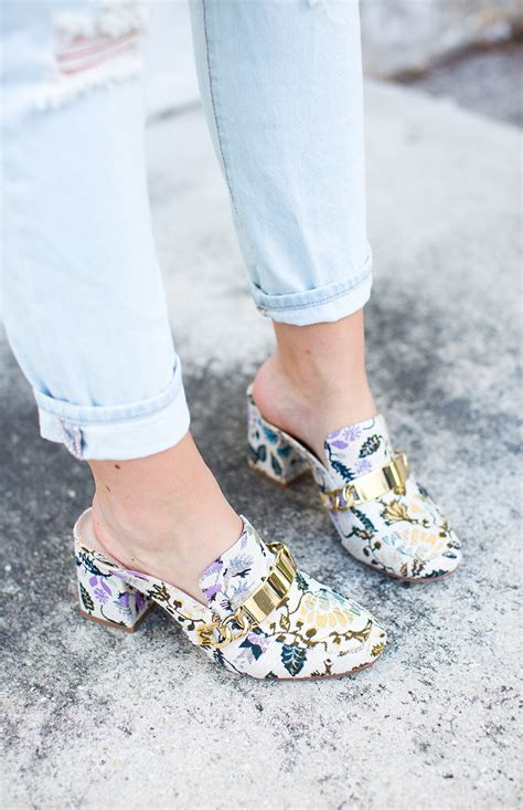Embroidered Mules embroidered mules living in color print