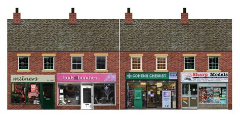 low relief modern shops oo 1 76 scale card kit