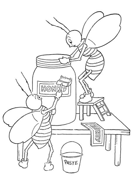 vintage coloring pages pdf kids printable honey bees coloring page the graphics fairy