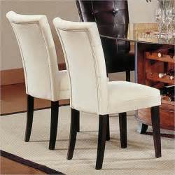 Houzz Dining Room Chairs steve silver company matinee fabric dining parson chair in
