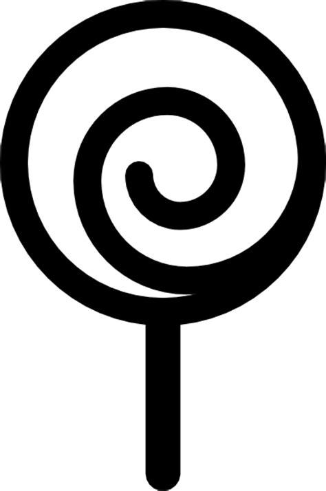 lollipop clipart black  white clipart image