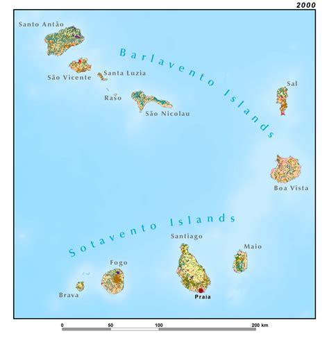 mapa de cabo verde the republic of cabo verde west africa