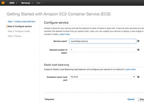 docker tutorial step 3 couchbase docker container on amazon ecs the couchbase blog