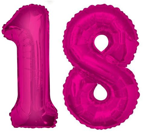giant 18th birthday party number 18 foil balloon helium air decoration age 18 ebay