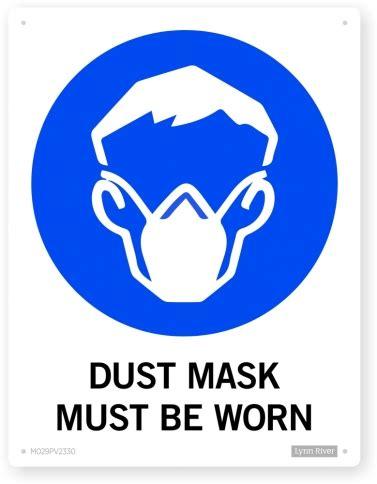 dust mask mandatory sign