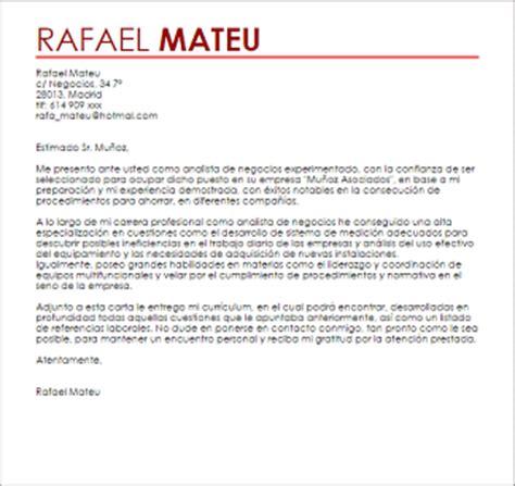 Ejemplo Curriculum Analista Financiero Modelo De Carta De Presentaci 243 N Analista De Negocio Livecareer