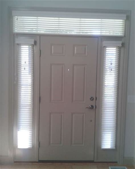 Sidelight blinds amp window treatments on front door