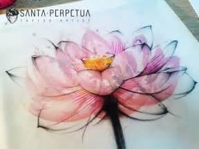 Watercolor Lotus Flower Lotus Flower Graphic Style Drawing By Santa