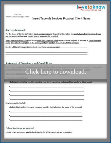 proposal format wikipedia free business proposal sles lovetoknow