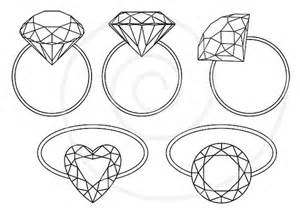 Diamond Rings Engagement Ring Solitaire Jewelry By Illustree sketch template
