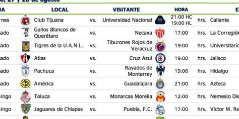 Calendario Liga Mx America 2016 Presentan El Calendario Para El Apertura 2016 De La Liga