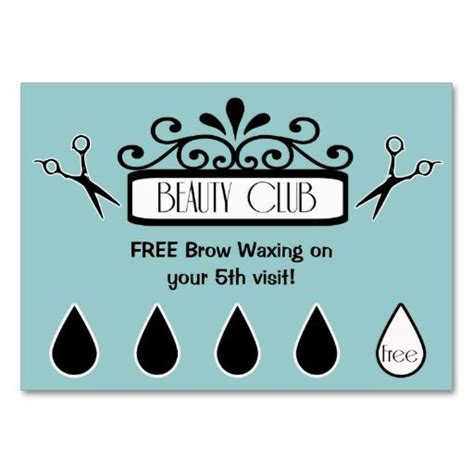 salon punch card template salon loyalty punch cards club loyalty