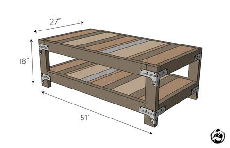 industrial coffee table free diy plans rogue engineer