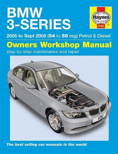 car engine repair manual 2008 bmw 3 series transmission control 2005 2008 bmw 3 series e46 chassis gas diesel haynes repair manual
