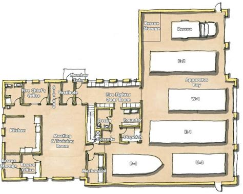 small station floor plans south volunteer department home