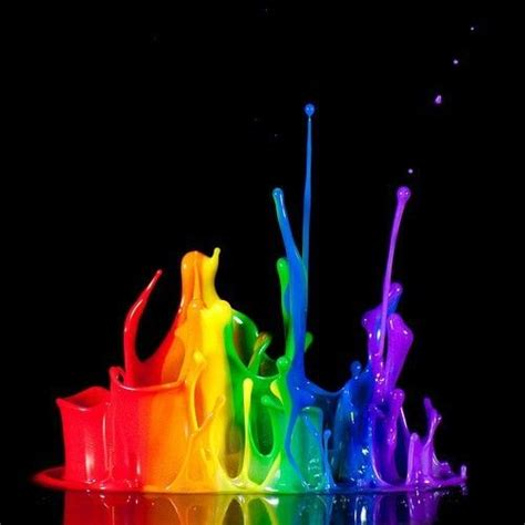 rainbow paint splatters colors