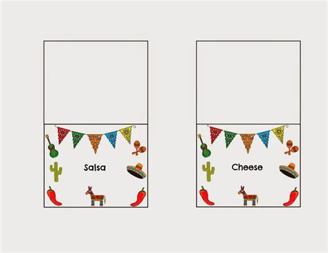 Taco Card Template by Diy Taco Bar Table Tents Free Printables Taco