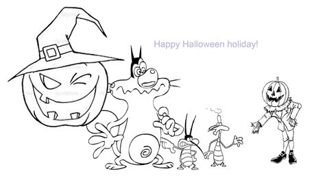 oggy coloring pages online oggy and the cockroaches coloring pages for halloween