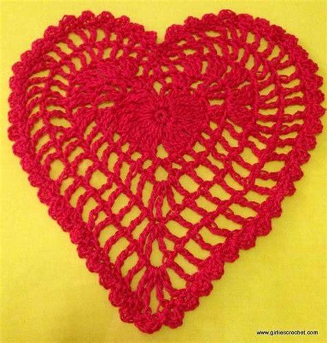 heart shaped pattern code heart shaped crochet stitch