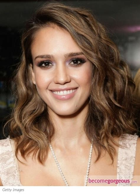 bob haircut jessica alba style for growing out long bob hair pinterest long