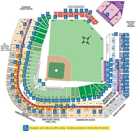 coors field map coors field seating chart map coors field mappery