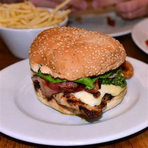 Gourmet Kitchen Natick Camembert Cranberry Chicken Burger Picture Of Gbk