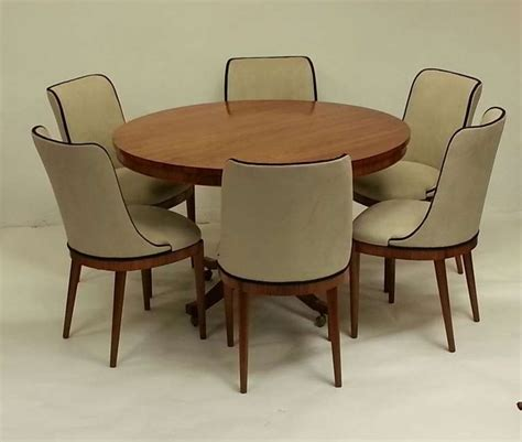 art deco dining table and six chairs at 1stdibs art deco dining table and six chairs at 1stdibs