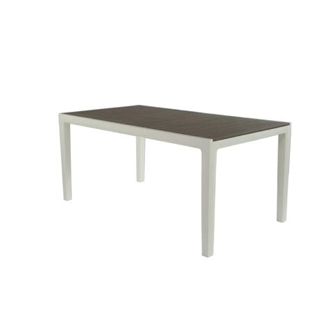 White Patio Table Keter Harmony White Cappuccino Patio Dining Table 226342 The Home Depot