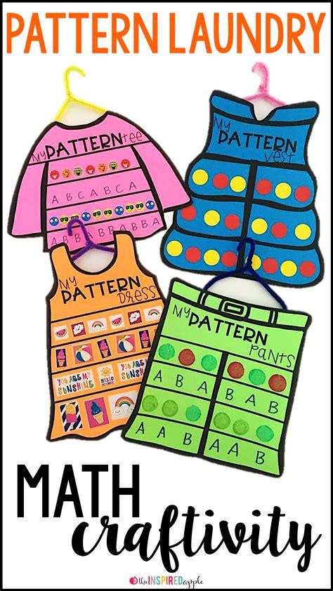 pattern perfect math patterning math craft math crafts kindergarten and math