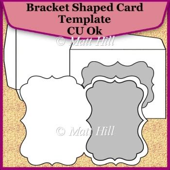 bracket card template bracket shaped card template commerical use ok 163 3 50