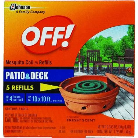 off mosquito l refills s c johnson off country fresh scent mosquito coil refill