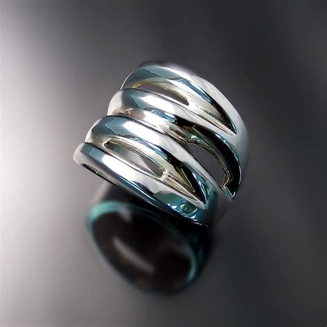 chunky silver statement rings zoran designs jewelry