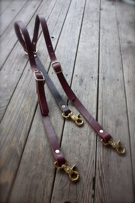 Handmade Suspenders - handmade leather suspenders steunk with brass hardware