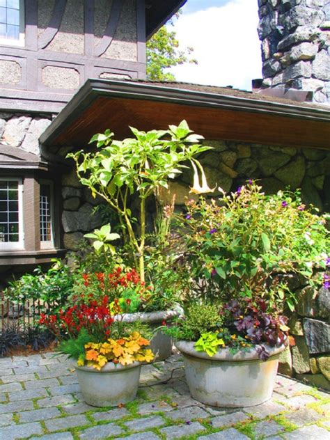 Patio Container Garden Ideas Patio Garden Container Ideas Outdoor Furniture Design And Ideas