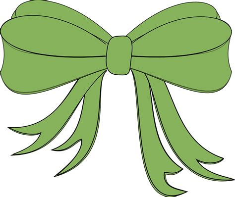 Green Gifts Hair Clip free vector graphic ribbon bow gift present
