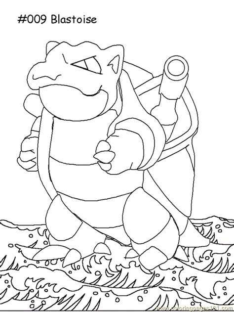 pokemon coloring pages of blastoise pokemon blastoise coloring pages printable images
