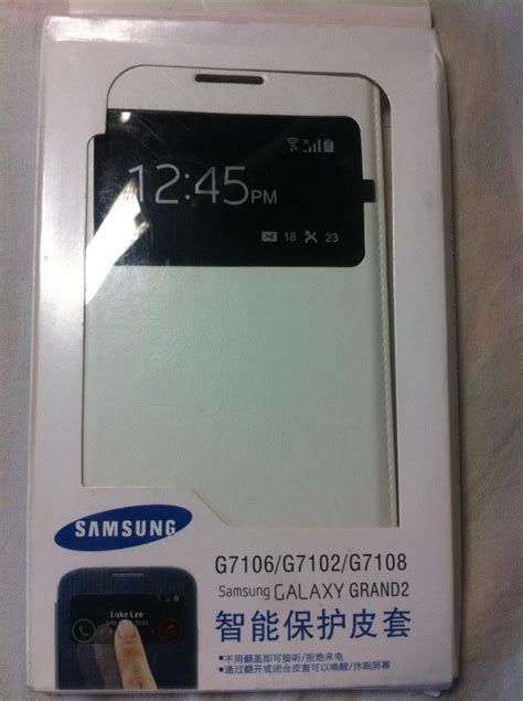 Original Samsung S View Cover Galaxy Grand 2 Sale Murah Cover 100 original samsung galaxy grand 2 g7106 s view leather folio flip cover