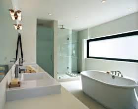 Charmant Plante Pour Salle De Bain #5: salle-bains-moderne-baignoire-%C3%AElot-blanche-vasques-int%C3%A9gr%C3%A9es-cabine-douche.jpg