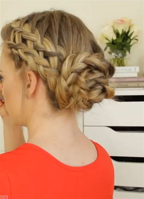 french braid bun on empire 3 french braid bun ideas to try from youtube beauty high