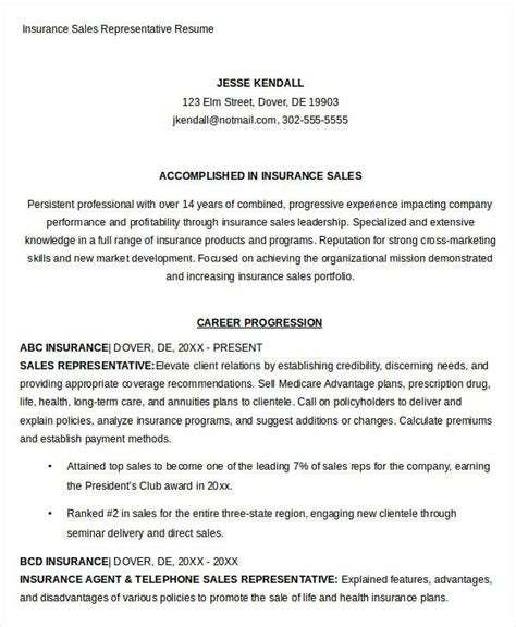 Insurance Sales Resume by Sales Resume Template 24 Free Word Pdf Documents
