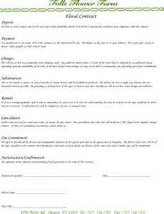contracts from florist to client fill online printable