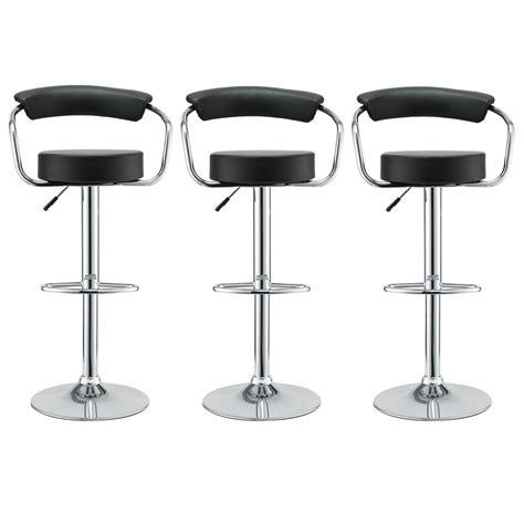 bar stools set of 3 set of 3 diner modern vinyl upholstered low back bar