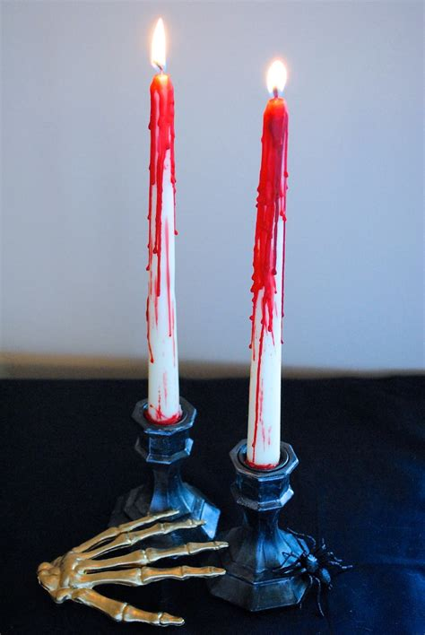 Diy Bloody Candles by Window Decorations Ideas To Spook Up Your Neighbors