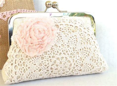 Tas Handbag Chic Pink of honor clutch blush pink doily purse shabby chic vintage wedding accessory on etsy