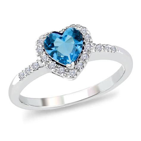 1 20 ct blue topaz and 14k white gold