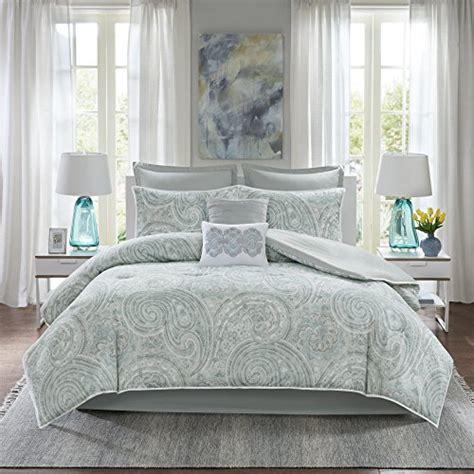 Comfort Spaces Kashmir Comforter Set Comfort Spaces Kashmir Comforter Set 8 Paisley Pattern Blue Grey